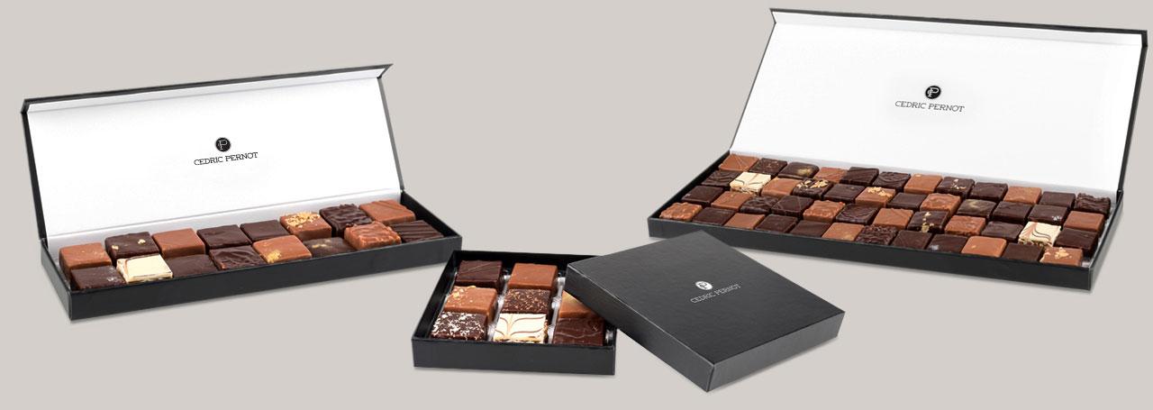 Boîtes Chocolats Cedric Pernot